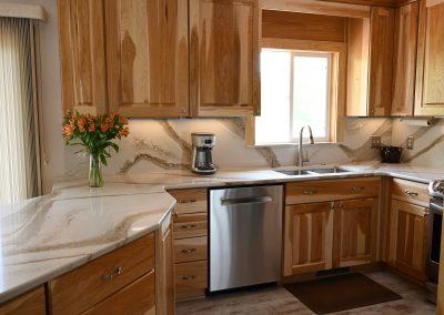 Kitchen remodel back kitchen wall