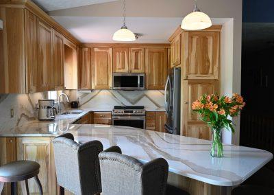 Kitchen remodel with Cambria Britannica Gold design